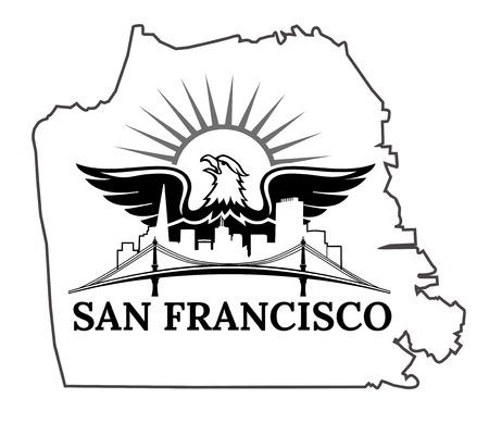 beach panorama: California. San Francisco. USA. Oakland Bay Bridge. San Francisco-Oakland Bay Bridge. San Francisco Business Center