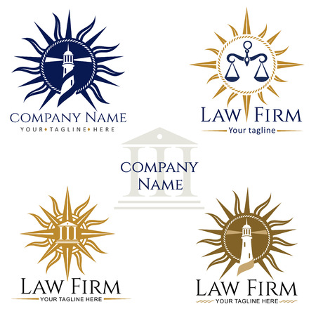 Law firm , rose of wind, scales of justice, attorney, lighthouse