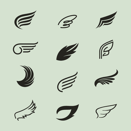 wings icons set 3