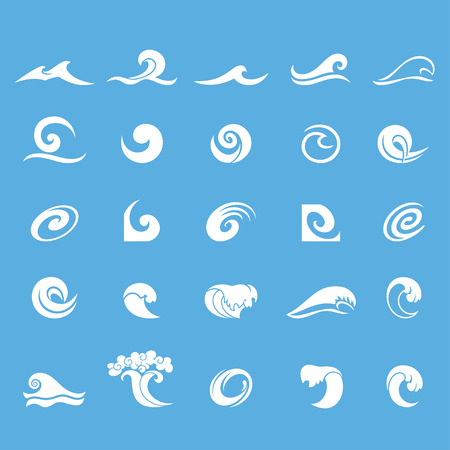 Water design elements. Vettoriali