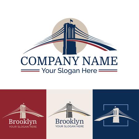 ニューヨーク - ブルックリン橋 - シンボル ベクトル図