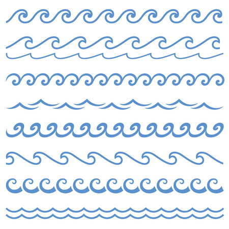 ブルーライン波飾り。