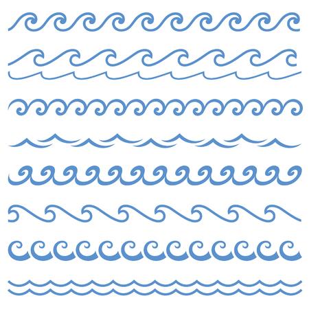 Blue line wave ornament.