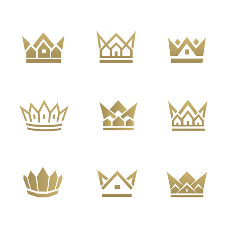 Golden house line icon. Can be used for realty estate, apartment, residential property or hotel template.