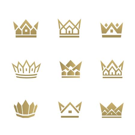 Icona della linea di casa d'oro. Può essere utilizzato per proprietà immobiliari, appartamenti, immobili residenziali o modelli di hotel. Archivio Fotografico - 89786781