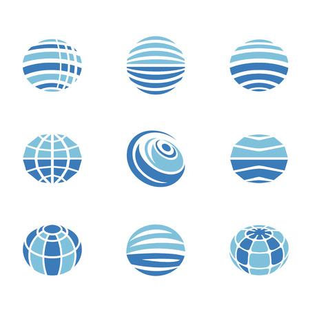 シンプルな設定の世界地球のアイコン。グローバル通信、接続、グローバル ビジネス、旅行などのアイコンが含まれています。