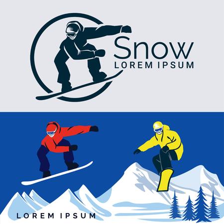 Snowboard Sport invernali Illustrazione vettoriale. Archivio Fotografico - 96637572