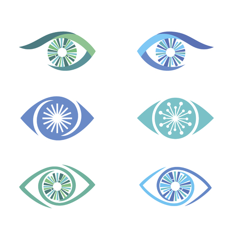 eye icons set vector illustration on white background. 向量圖像