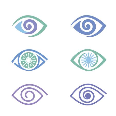 eye icons set Vector illustration. Ilustrace