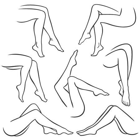 Beautiful female legs Ilustração