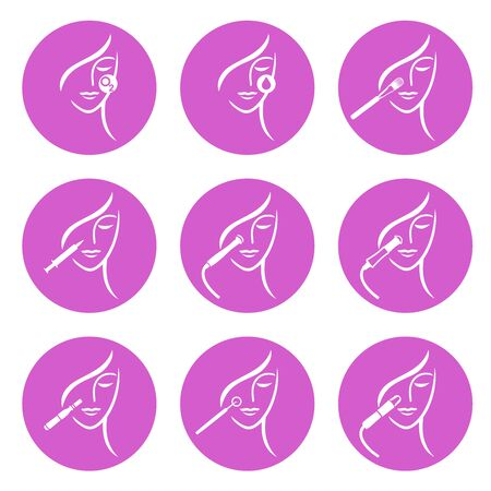 Skin Treatment icons  イラスト・ベクター素材