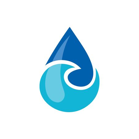 Illustration of the water drop symbol. Can be used as icon for environmental conservation, hydro therapeutic, pure water business, spa center or seafood. Иллюстрация