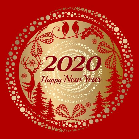 New Year 2020 greeting
