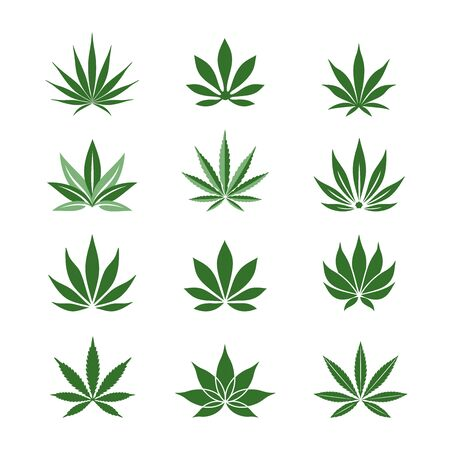 Stylized Hemp leaves