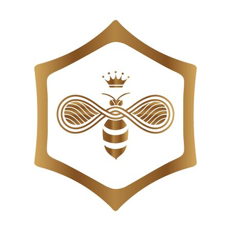 Queen Bee design on white background. Иллюстрация