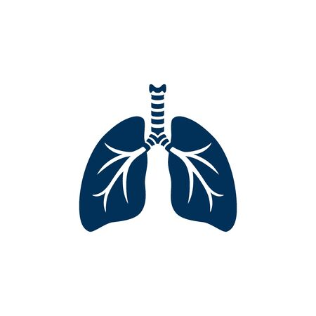 Silhouette human lungs. Modern, stylized  design of human lungs. Icon for your holistic health and fitness business, lung center, pediatric clinics, health system and health care concept. Vector illustration. Archivio Fotografico - 144177431