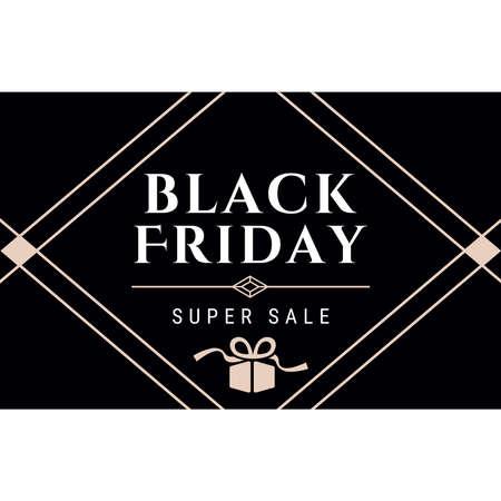 Black Friday sale design template. Vector illustration.