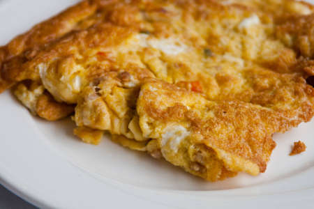Omelette in white dish