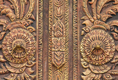 Pattern Thai arts door photo