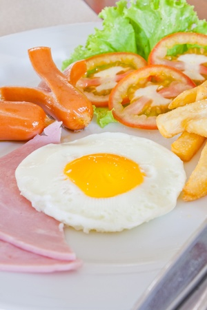 American style breakfast Stock Photo