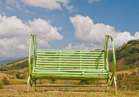 Chair on muontains and blue sky Stock Photo - 11404752