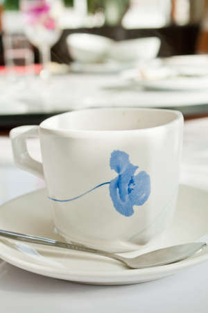 Coffee in a white cup photo