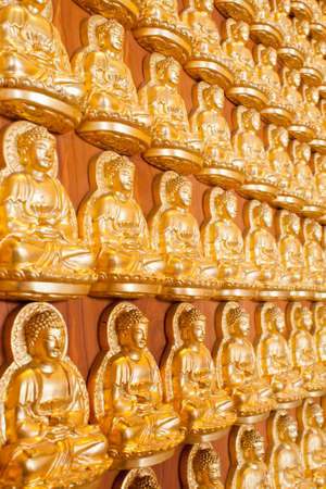 Gold buddha in temple Thailand photo