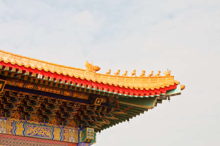 Chinese style pavilion and sky