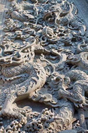 Chinese style dragon art wall photo