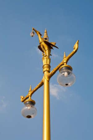 Hong pole lamp on blue sky photo