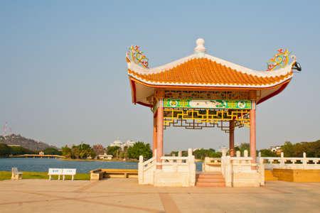 Chinese style pavilion Stock Photo