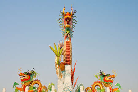 Dragon statue at Nakornsawan, Thailand photo