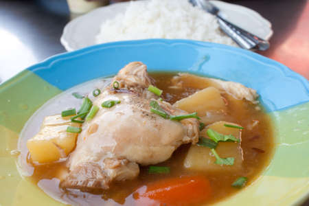 Stew Chicken with Rice  photo