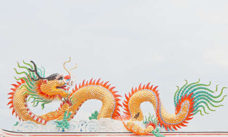 Chinese style dragon statue photo