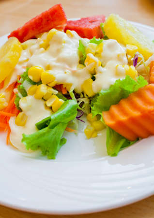 Salad fruit and vegetables  Stock Photo