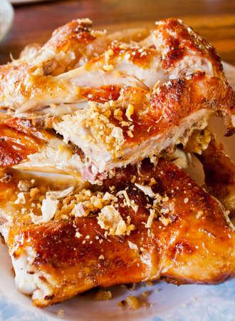 Thai roasting chicken photo