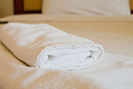 White towel in the room photo