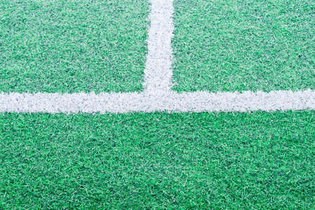Soccer field with a beautiful green background photo