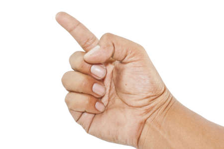 Hand on white background Stock Photo - 14019324