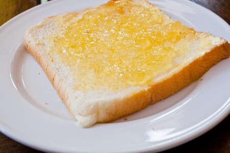 Bread with pineapple  jam photo