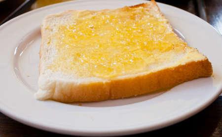 Bread with pineapple  jam photo