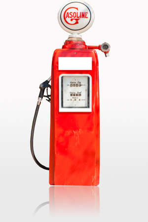 Fuel dispensers on a white background Stock Photo