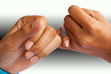 Two hands together Stock Photo