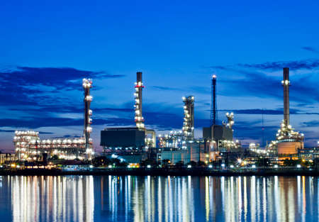 Bangjak oil refinery at twilight Bangkok Thailand Stock Photo - 14643225