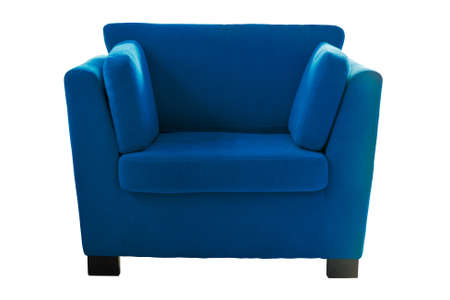 Blue sofa isolate on white background Stock Photo