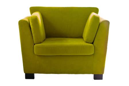 Green sofa isolate on white background Stock Photo