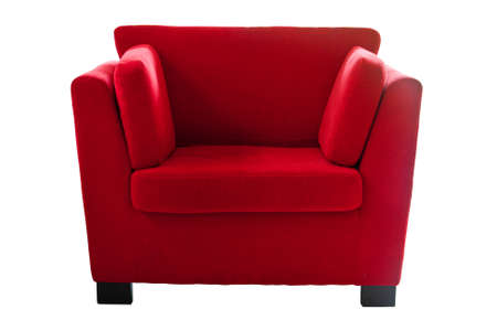Red sofa isolate on white background