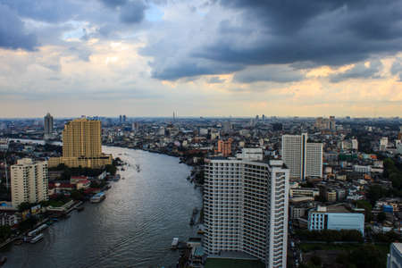 silom: City view at Bangkok Thailand