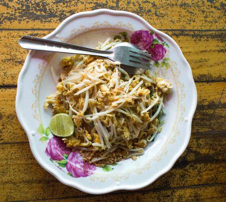 Pad thai on plate photo