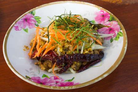 Thai food Chopped fried fish